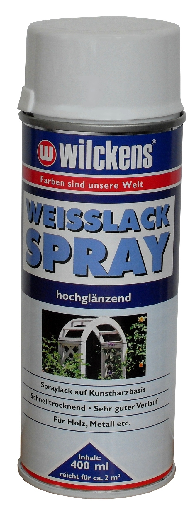 wilckens weisslack spray 400ml hochgl nzend oder seidenmatt f r holz metall ebay. Black Bedroom Furniture Sets. Home Design Ideas